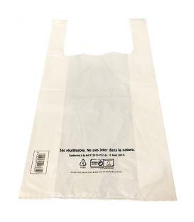 sacs bretelles 50µ réutilisable 26 X 12 X 45 cm
