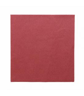 Serviettes voie sèche non tissé bordeaux 40x40 cm